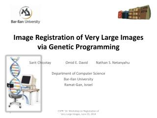 Image  Registration of Very  Large  Images via  Genetic Programming