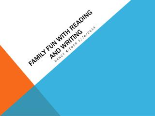 Family FUN WITH READING AND WRITING