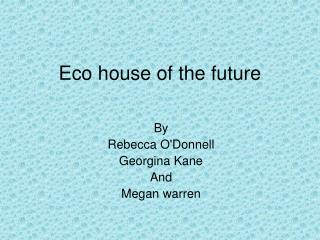 Eco house of the future