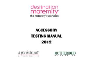 ACCESSORY  TESTING MANUAL  2012
