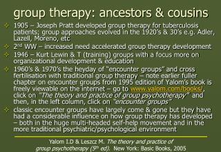 group therapy: ancestors & cousins
