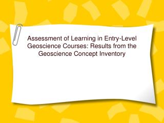What is Geoscience Concept Inventory?