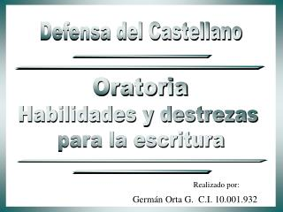 Defensa del Castellano