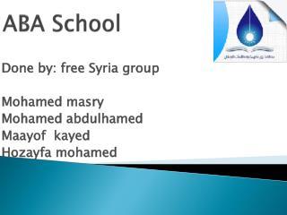 ABA School