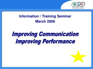 Information / Training Seminar March 2006