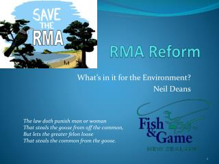 RMA Reform