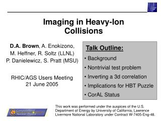 Imaging in Heavy-Ion Collisions