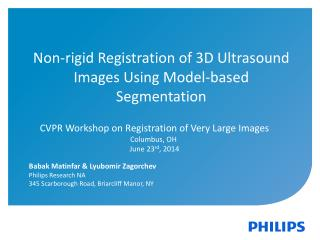 Non-rigid Registration of 3D Ultrasound Images Using Model-based Segmentation