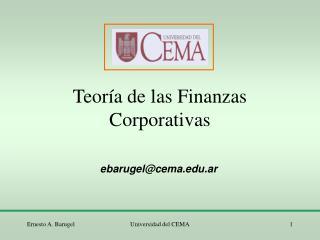 Teoría de las Finanzas Corporativas