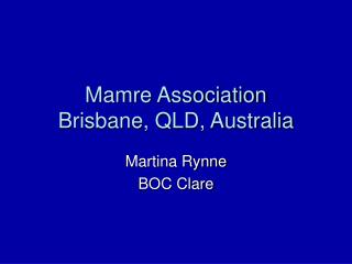 Mamre Association Brisbane, QLD, Australia