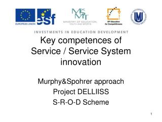 Key competences of  Service / Service System innovation