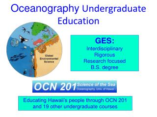 Oceanography  Undergraduate Education