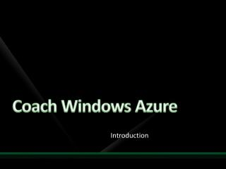 Coach Windows Azure