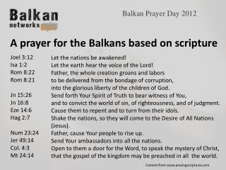 Balkan  Prayer  Day 2012