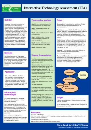 Interactive Technology Assessment (ITA)