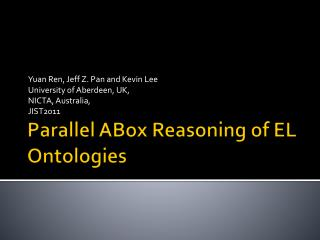 Parallel  ABox  Reasoning of EL Ontologies