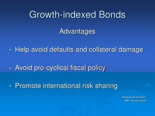 Growth-indexed Bonds