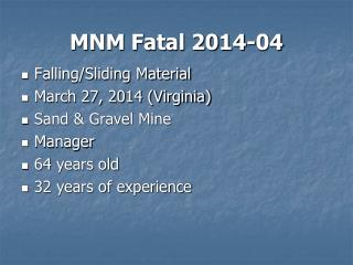 MNM Fatal 2014-04