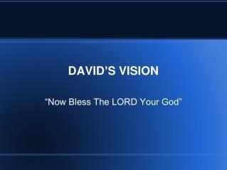 DAVID'S VISION