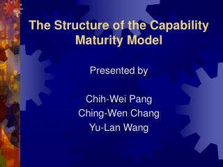 The Structure of the Capability Maturity Model