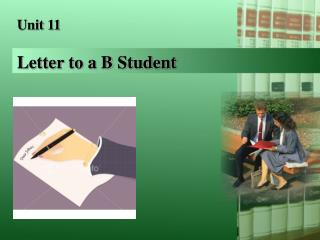 Letter to a B Student