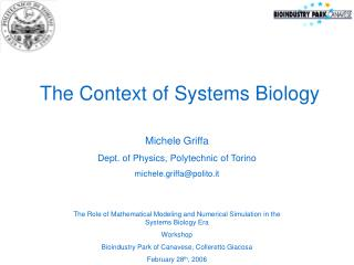 The Context of Systems Biology