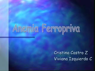 Cristina Castro Z Viviana Izquierdo C