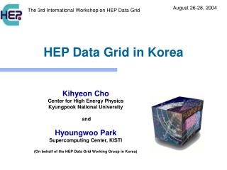 HEP Data Grid in Korea