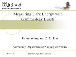 Measuring Dark Energy with Gamma-Ray Bursts