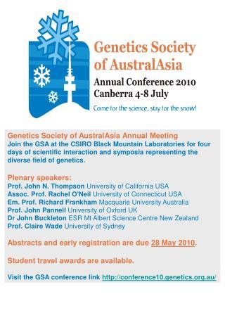 Genetics Society of AustralAsia Annual Meeting