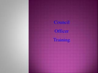 Council  Officer  Training