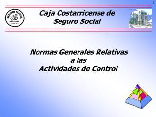 Normas Generales Relativas  a las   Actividades de Control