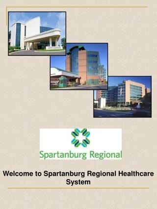 Welcome to Spartanburg Regional Healthcare System