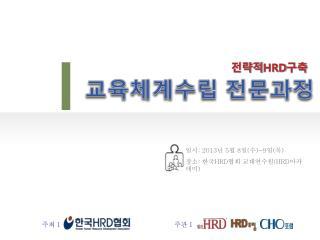 일시 : 2013 년  5 월  8 일 ( 수 )~9 일 ( 목 ) 장소 :  한국 HRD 협회 교대연수원 (HRD 아카데미 )