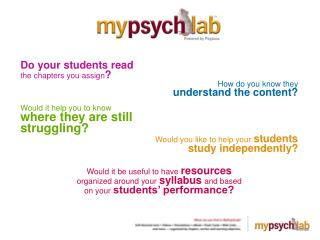 Do your students read the chapters you assign ? How do you know they understand the content?