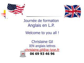 Journée de formation Anglais en L.P.