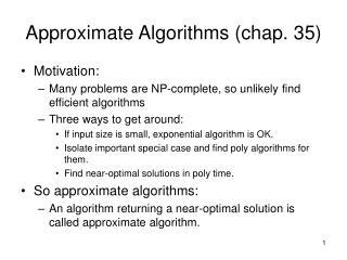 Approximate Algorithms chap. 35