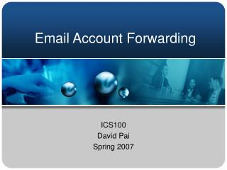 Email Account Forwarding