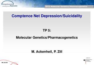 TP 5: Molecular Genetics/Pharmacogenetics