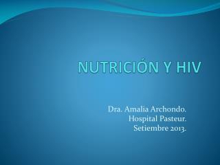 NUTRICIÓN Y HIV