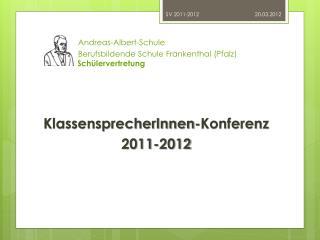 Andreas-Albert-Schule     Berufsbildende Schule Frankenthal (Pfalz) Schülervertretung