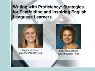 Writing with Proficiency: Strategies for Scaffolding and Inspiring English Language Learners