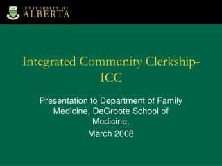 Integrated Community Clerkship-ICC