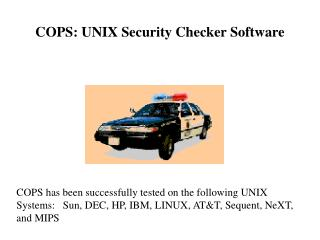COPS: UNIX Security Checker Software