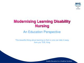 Modernising Learning Disability Nursing