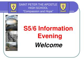 S5/6 Information Evening Welcome