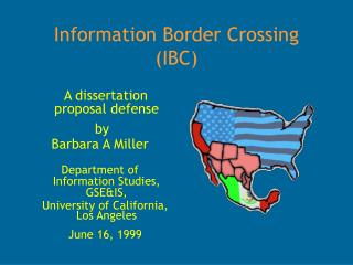 Information Border Crossing (IBC)