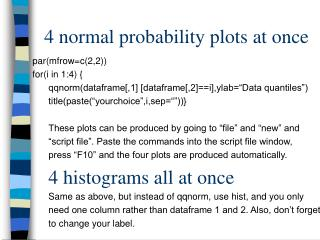 4 normal probability plots at once