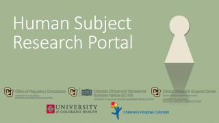 Human Subject Research Portal