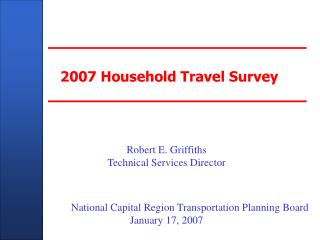 2007 Household Travel Survey